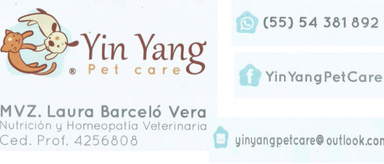 Yin Yang Pet care. Nutrición y Homeopatía Veterinaria
