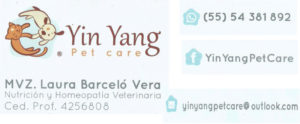 YinYang Pet Care Nutrición y Homeopatía Veterinaria
